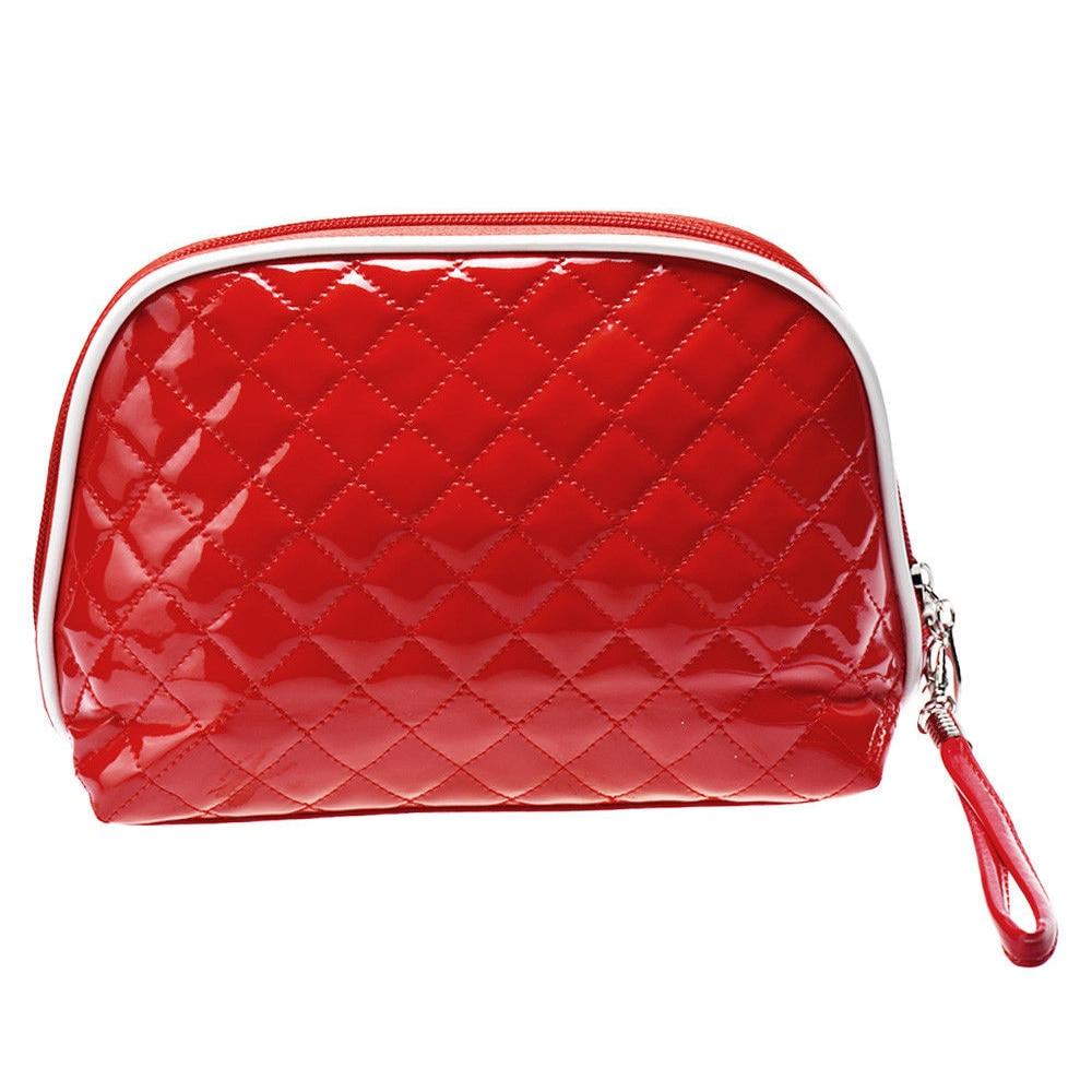 Portable Waterproof Multifunction Cosmetic Bag Travel Package Makeup Bag Case Red #6