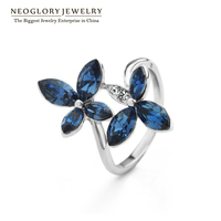 Neoglory Jewelry Multicolour Imitation Flowers Auden Crystal And Lovely Girls Crystal Ring For For Party 2012