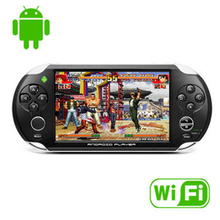 5.0″ Touch Screen WIFI Game Player Ultra-thin Handheld Game Consoles 4GB android 4.0 OS +Camera+Speaker +Tablet PC Function