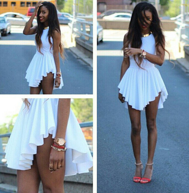 women sexy club asymmetrical party dresses 2015 summer style ladies casual  white midi dress plus size woman online shop clothing-in Dresses from  Women s ... ad6a3f348a42