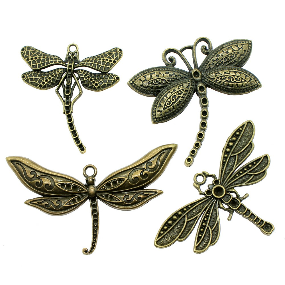 Charm Pendants Jewelry-Making Bronze Antique Big for 2pcs/Lot title=