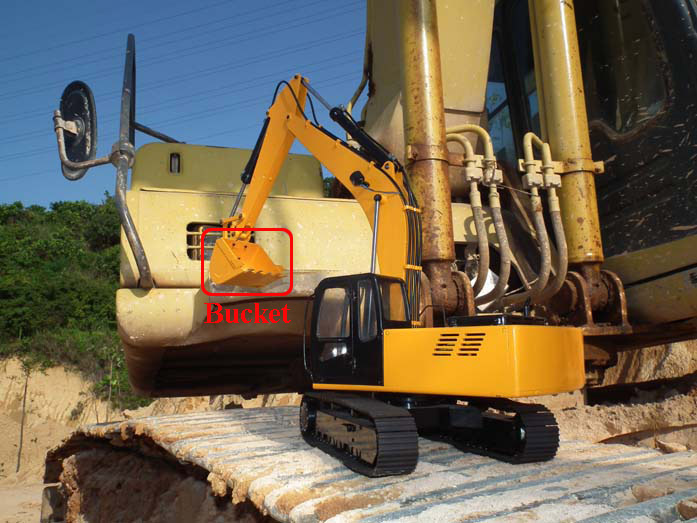1/12 RC Hydraulic Excavator 4200xl Bucket