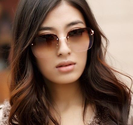 fashion sunglasses for women  Online Get Cheap Women Sunglasses Fashion Gradient Rimless ...