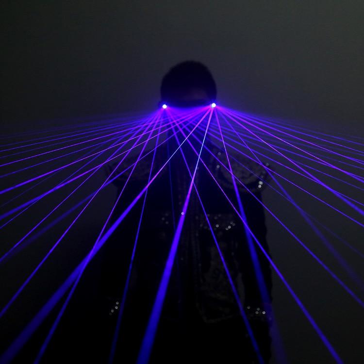 Multi Beams Blue Laser Glasses Pub Club DJ Shows Laserman Dancing Stage Show