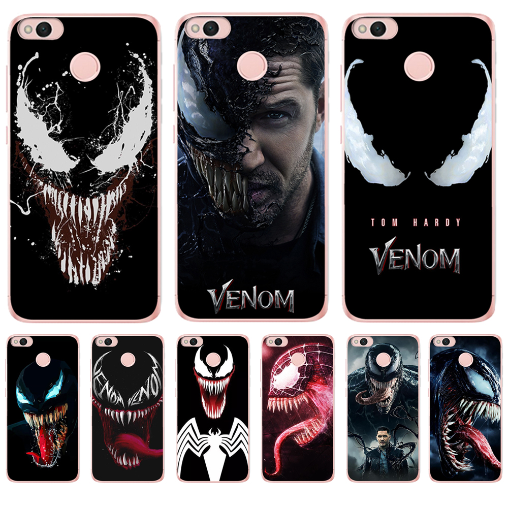 Venom For Coque Xiaom <font><b>Redmi</b></font> 3S 4x pro 4A 5A 5 Plus <font><b>Note</b></font> 3 <font><b>4</b></font> 4x Prime 6 6A phone <font><b>case</b></font> cover cool <font><b>marvel</b></font> luxury cool back Silicone image