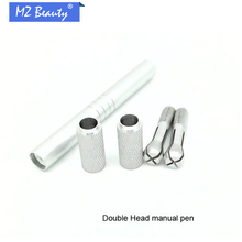 Microblading Pen Manual Tattoo Pen For Eyebrow Tattoo Fit For All The Needle Blade 12pin 14pins Double Row Manual Pen Tebori Pen