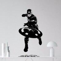 SUPERHERO Captain America Movie Poster Avengers WALL ART STICKER VINYL DECAL NURSERY CHILDREN KID ROOM STENCIL
