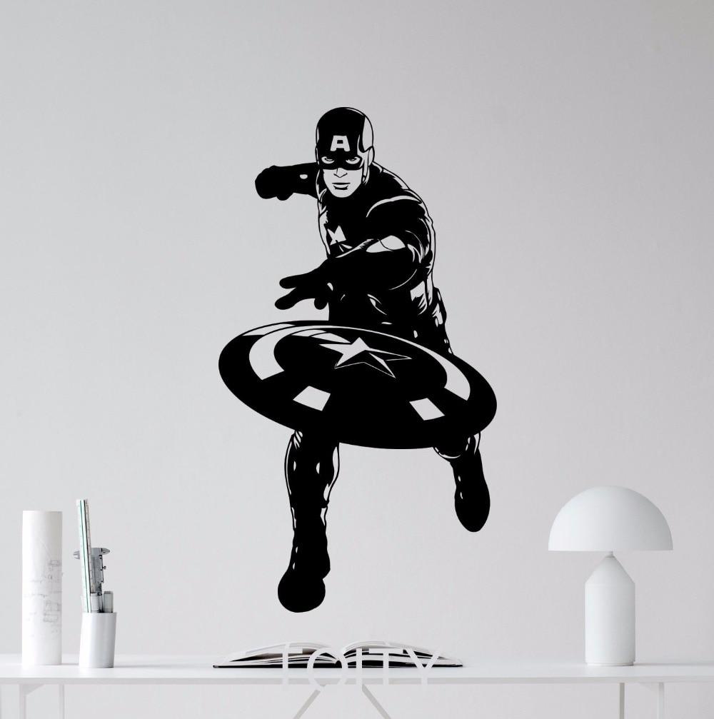 Superhero captain america movie poster avengers wall art for Avengers mural poster