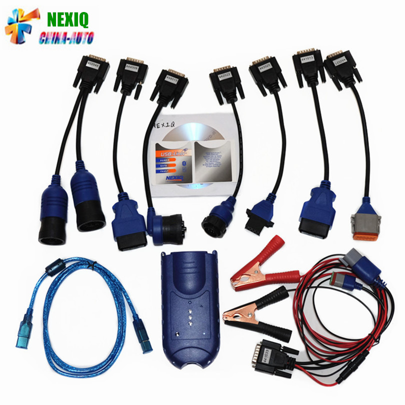 Hot Selling NEXIQ USB Link NEXIQ 2 Diesel Truck Diagnostic Tool NEXIQ2 With Bluetooth USB Link Heavy Duty Truck With Software