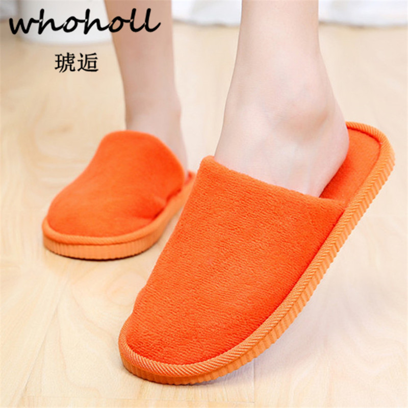 Whoholl Indoor House Slipper Soft Plush Cotton Cute Slippers Shoes Non-Slip Floor Home Furry Slippers Women Shoes for Bedroom soft plush cotton cute slippers shoes non slip floor indoor house home furry slippers women shoes for bedroom q37