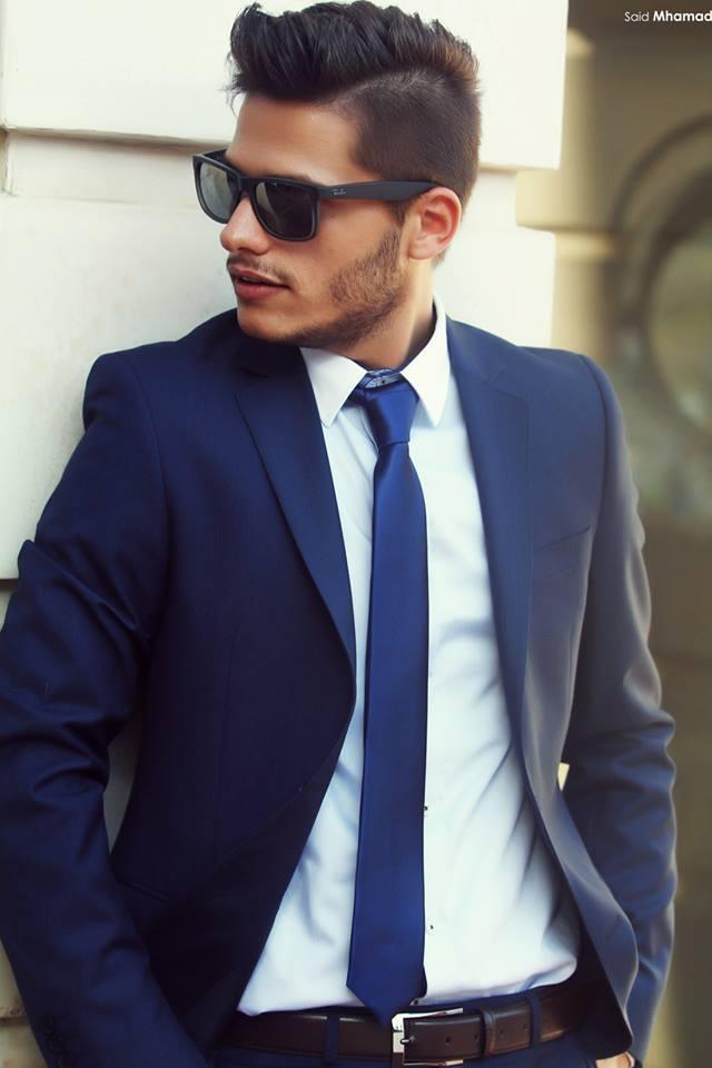 60ae228653b09 Modernos trajes de boda 2015 nuevo estilo azul marino novio esmoquin hombre trajes  trajes en Trajes de Bodas y eventos en AliExpress.com