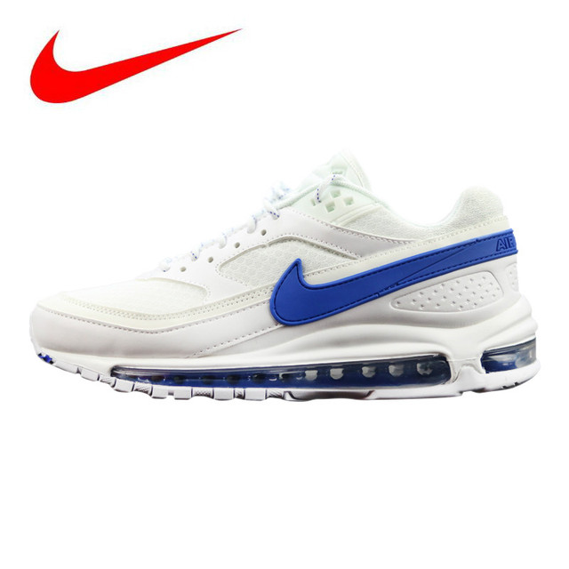 separation shoes 29ff5 68935 Nike Air Max 97 BW X Skepta Men s Running Shoes, Shock-Absorbing Breathable  Non-Slip Lightweight, White   Blue AO2113 100