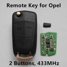 2 Botones de la Llave Alejada 433 Mhz para VAUXHALL/OPEL/Holden Antara Coche de Entrada Sin Llave Fob de Control