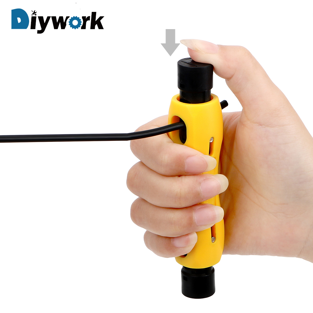 DIYWORK Cable Wire Stripper Automatic Coaxial Stripping Tools Telephone Line Television Line Dual-purpose Peeling Pliers chnt electrical wire and cable coaxial cable closed line cable high definition television line 100 meters