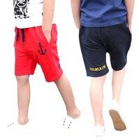 School Boys Shorts Cotton Casual Kids Shorts For Boys Children Clothing Summer Elastic Waist Kids Sportswear