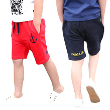 School Boys Shorts Cotton Casual Kids Shorts For Boys Children Clothing Summer Elastic Waist Kids Sportswear 5 6 eight 9 10 12 Years