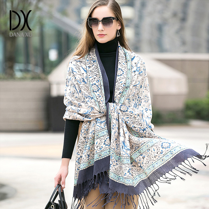 2019 Fashion Warm Winter Scarf For Women Scarf Luxury Brand Cashmere Large Scarf WrapWomen Blanket Pashmina Shawl Muslim Hijab-in Women's Scarves from Apparel Accessories