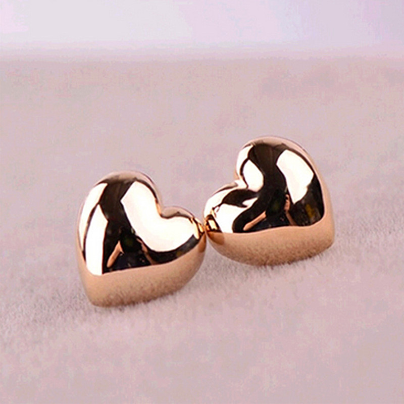 ES358 Fashion Simple Vintage Heart Stud Earrings Wholesales Factory Direct Sales Jewelry Accessories