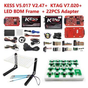 4 Led Online Master KESS V2.47 2.47 Red Ktag V7.020 V2.23 No Token Limit K Tag 7.020 7020 ECU Programmer Gifts ECM Winols