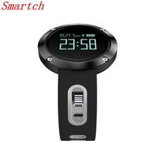 Smartch DM58 умный Браслет IP68 Водонепроницаемый Приборы для измерения артериального давления сердечного ритма Мониторы напоминание спортивные Smart Band Фитнес для iOS в
