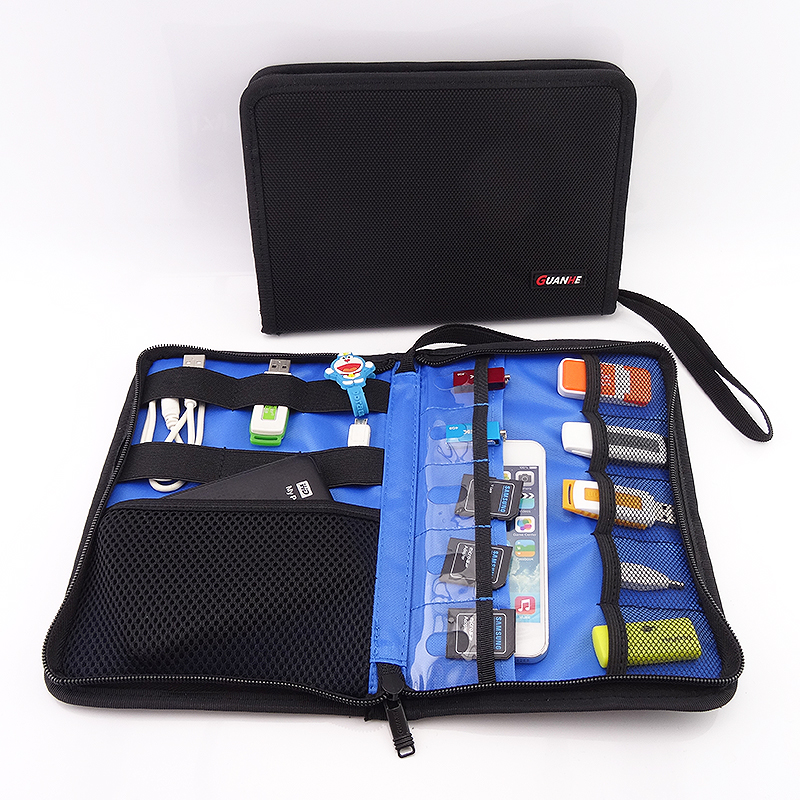 Roll UP Electronics <font><b>Accessories</b></font> Case Storage Travel Organizer / Hard Drive Bag / Cable Stable/ Baby Healthcare Kit