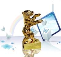Berlin golden bear movie award metal craft souvenir home decoration engraving TV MOVIE Character awards