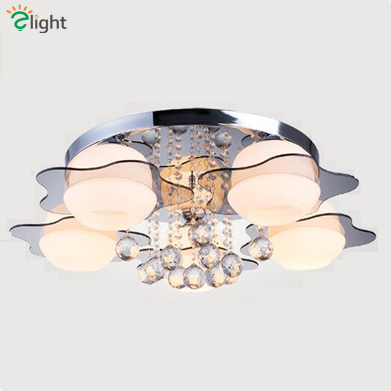 2016 Modern Simple Lustre K9 Cristal Led Ceiling Light Glass Remote Control Dimmable Ceiling Lamp youoklight remote control led ceiling light