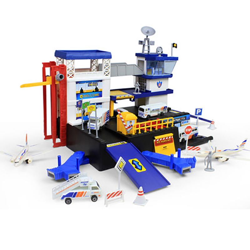 Miniature Toys For Boys : Assembling building miniature aviation airport