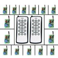 AC 220V 110V 1 CH 1CH RF Wireless Remote Control Switch System 2 X 15CH Transmitter