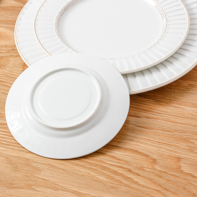 2016 Northern European Style Restaurant Tableware Breakfast Dinnerware Sets White Ceramic Gold Dishes Plates Free Shipping-in Dishes u0026 Plates from Home ... & 2016 Northern European Style Restaurant Tableware Breakfast ...