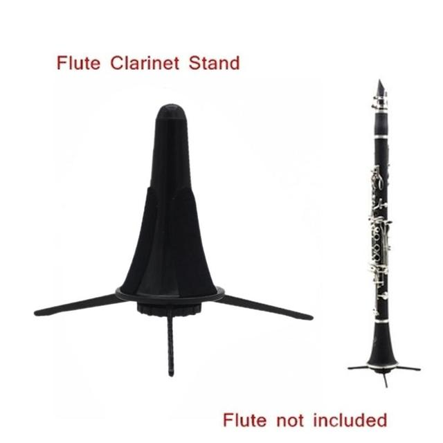 Clarinet Holder Saxophone Tripod Stand Metal Leg Detachable Portable Foldable for Oboe Flute Sax Bell Wind Instrument