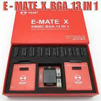 Новый MOORC высокоскоростной E-MATE X E MATE BOX EMATE EMMC BGA 13in 1 для 100 136 168 153 169 162 186 221 529 254 легкий JTAG plus