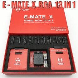 2018 New MOORC  E-MATE  X  E MATE PRO BOX  EMMC BGA 13 IN 1 SUPPORT  100 136 168 153 169 162 186 221 529 254 Free shipping