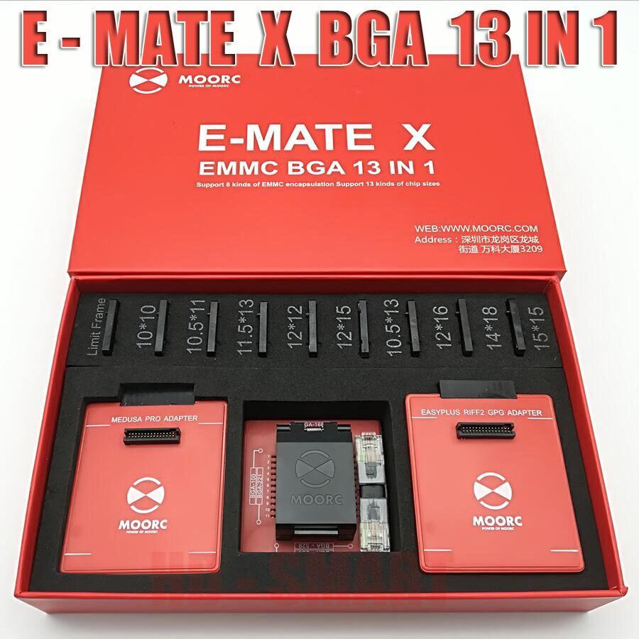 2019 neue MOORC E-MATE X E MATE PRO BOX EMMC BGA 13 IN 1 UNTERSTÜTZUNG 100 136 168 153 169 162 186 221 529 254 freies verschiffen