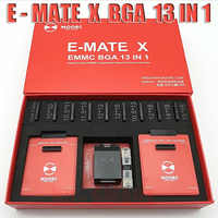 New MOORC High speed E-MATE X E MATE BOX EMATE EMMC BGA 13in 1 for 100 136 168 153 169 162 186 221 529 254 easy jtag plus
