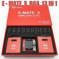 Nuevo MOORC E-MATE X E MATE PRO caja de EMATE EMMC BGA 13in 1 100, 136, 168, 153, 169, 162, 186, 221, 529, 254 JTAG fácil plus