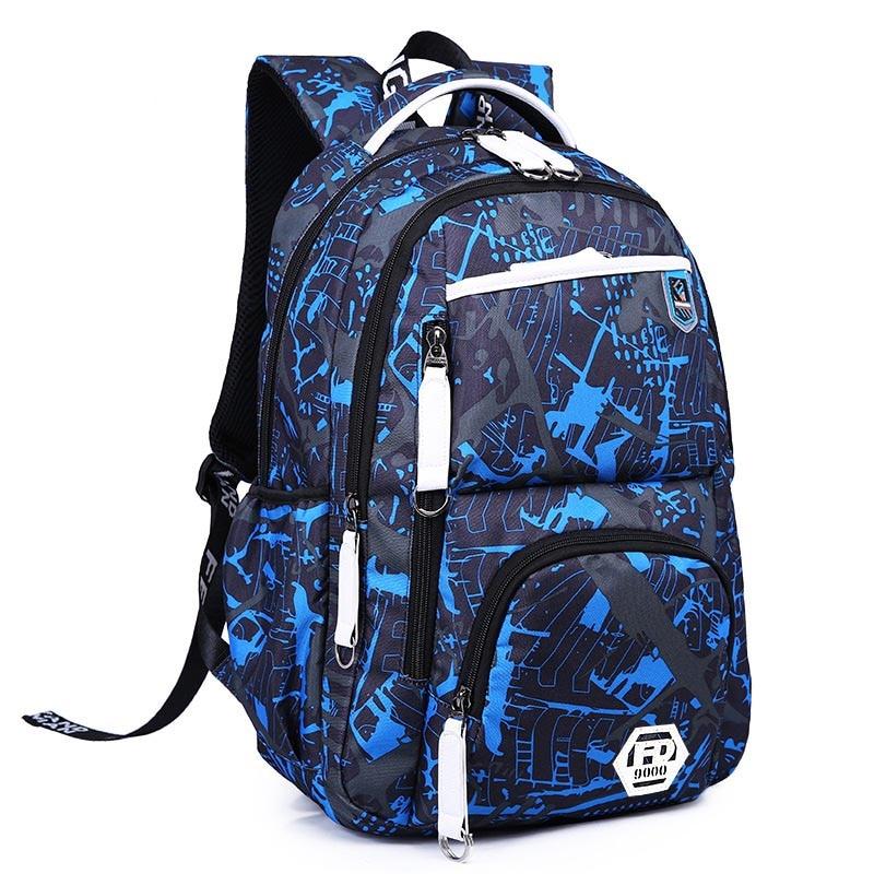 New 2018 Oxford Durable School Backpack For Boys Middle School Bookbag Water Resistant College Laptops Backpack Men Travel Bag