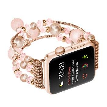 FOHUAS Highquality הטבעית גריי אגת בנד עבור Apple שעון יד תחליף של נשים האופנה רצועות יד עם מתאמי 38 מ