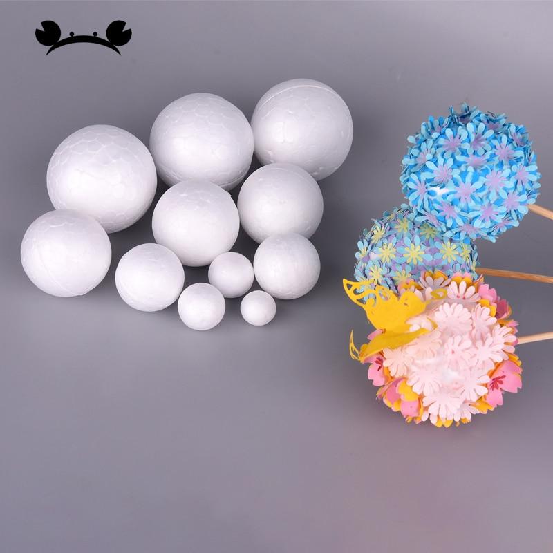50pcs DIY Round Styrofoam Balls Christmas Ball White Modelling Polystyrene Foam Craft Balls Christmas Decorations Wedding Party