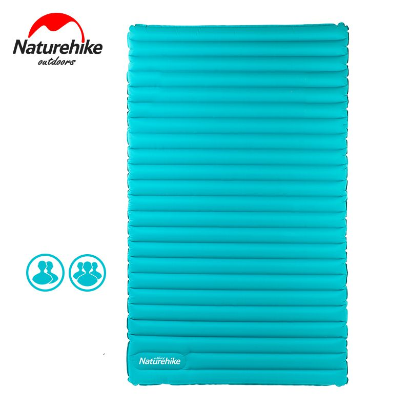 Naturehike Double / 3 person Outdoor Camping Inflatable Sleeping Pad Ultralight Press Type Air Mattress TPU Waterproof Tent Mat