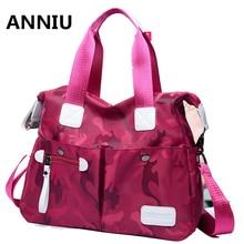 ANNIU new famous brand handbags woman designer Waterproof nylon Shoulder bag High Quality Designer bags Camouflge Casual tote