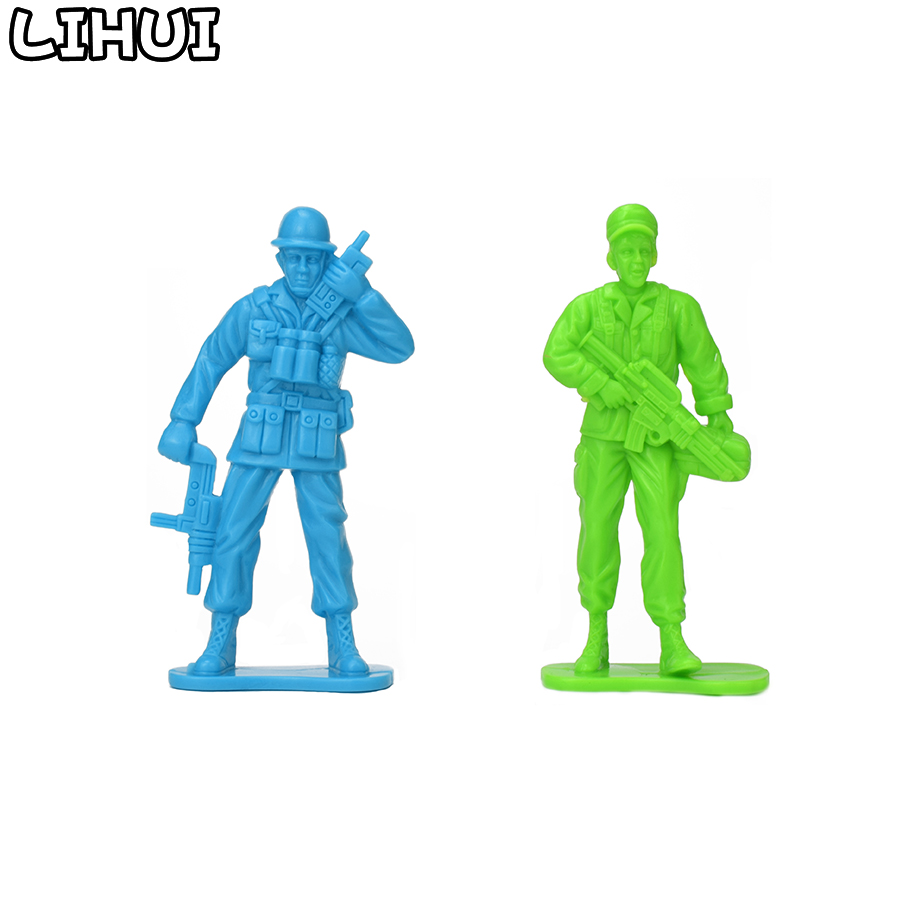 Multi 5-11cm Plastic Soldier Model Army Figures Toy DIY Military Scenes