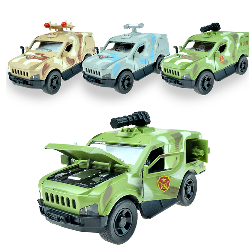 Military chariot warrior children alloy boy toy car model Childrens Day gift ornaments kid toy