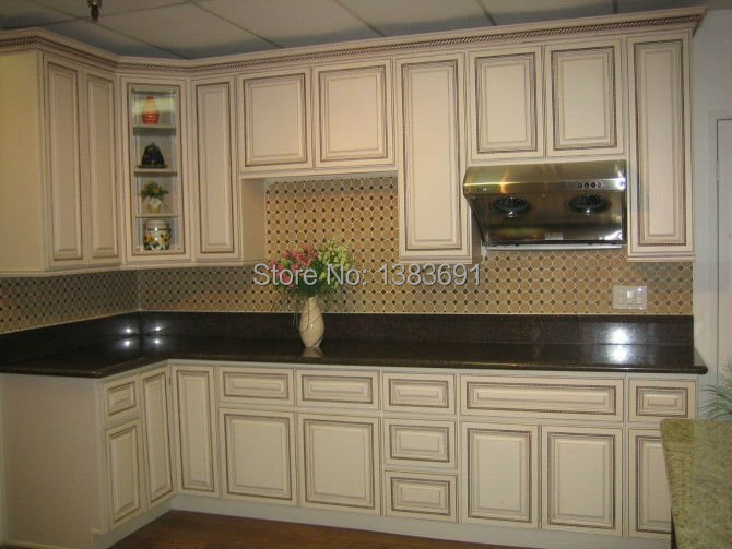 Maple wood, birch wood, rubber wood kitchen cabinet-in Kitchen ...