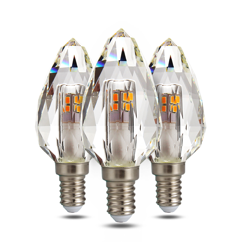 Crystal LED E14 Bulb Lamp 5W Light Bulb 220V Warm White Lampada Home Living Room Spotlight Energy Saving Lighting 2pcs/lotCrystal LED E14 Bulb Lamp 5W Light Bulb 220V Warm White Lampada Home Living Room Spotlight Energy Saving Lighting 2pcs/lot