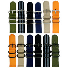 20mm 22mm 24mm Nylon Watch band NATO strap zulu strap Heavy duty nylon straps watch strap ring buckle +Tool +Spring Bar