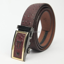 crocodile pattern automatic buckle Genuine leather belt for mens Free shipping стоимость