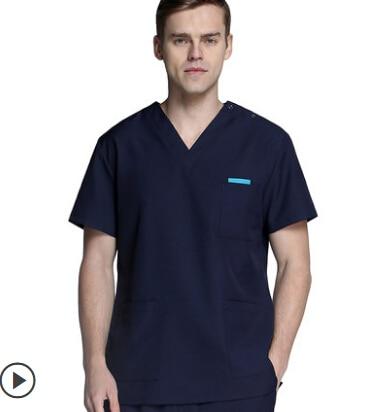 New Men Women Medical Scrub Sets Hospital Doctor Nurse Uniforms Dental Clinic V neck Short Sleeve