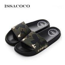 ISSACOCO 2019 Shoes Woman Slippers Home Sandals Women Flat Soft Bottom Casual Beach Zapatillas Pantufa