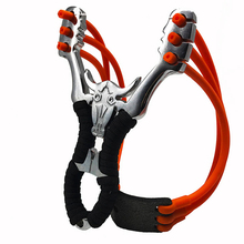 Powerful Bull head Hunting Sling Shot Rubber Band Slingshot Catapult With Compass Stone
